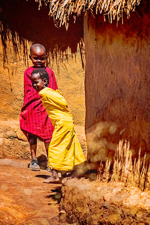 Two Boys in Kenyan Village Copyright 2021 Steve Leimberg UnSeenImages Com _DSC2772