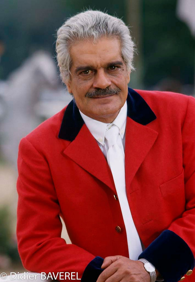 1990s, France --- Egyptian Actor Omar Sharif --- Image by © Didier Baverel
