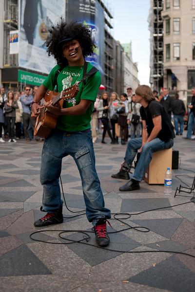 Street musicians on Strøget