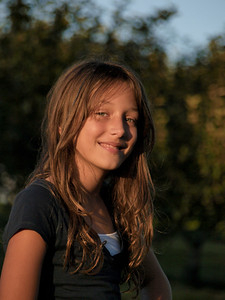 10/19/11:  Decided to skip the school portraits and do them myself.  She will be 10 on Friday.