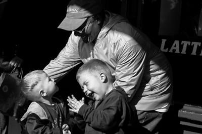 Joy! Street Singer and child Seattle WA. 2008