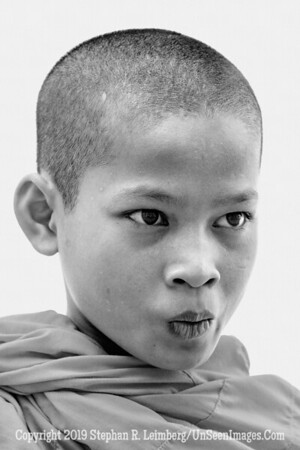 Young Monk - B&W Copyright 2018 Steve Leimberg UnSeenImages Com _Z2A7713