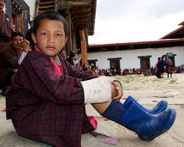 Gangtey Dzong;     Phobjikha Valley, Bhutan
