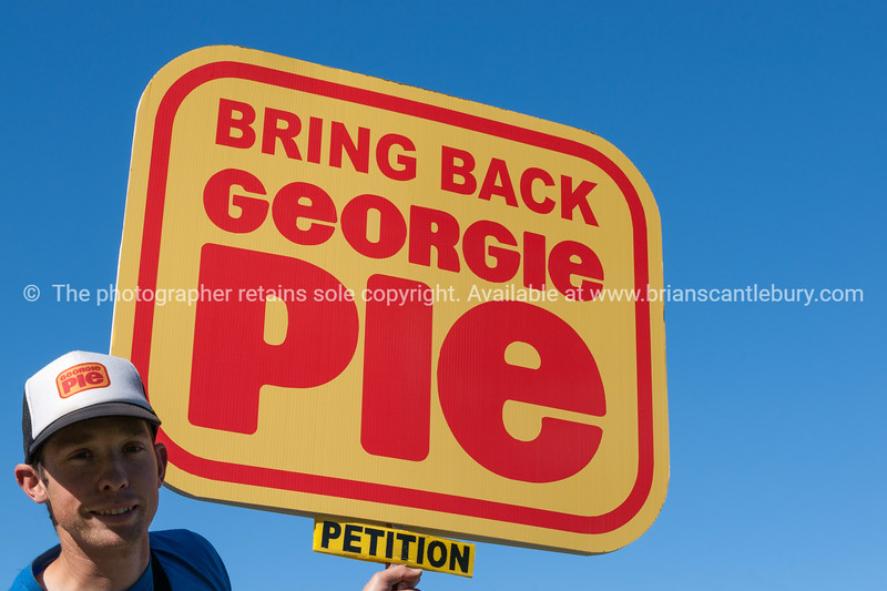 Grant duffield with his Georgie Pie petition. (5 of 5)