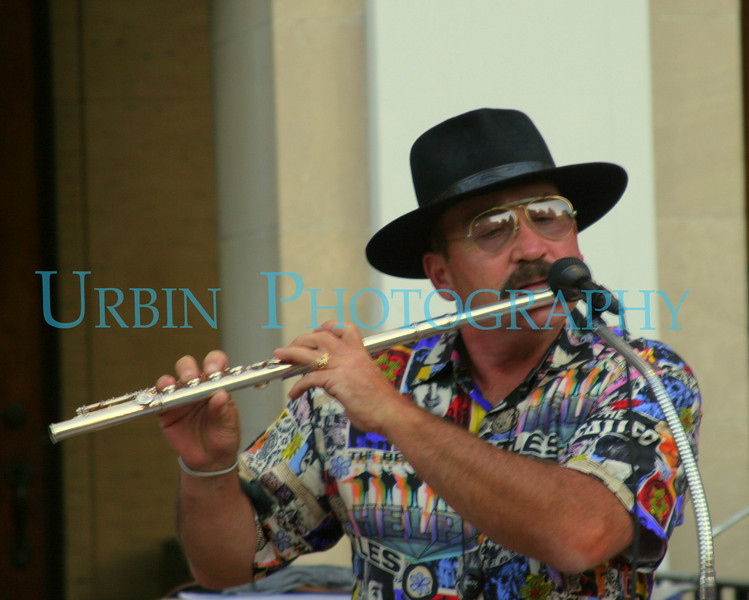 One of the members of the band Tailspin, playing at the Westborough, MA 2007 street fair.