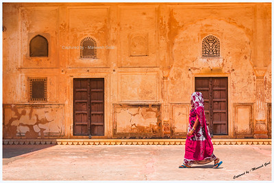 Royal Walk! | A Rajasthani woman captured at Jaigarh Fort, Jaipur (Rajasthan)