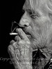Steve Malone - Artist B&W CLOSE UP  - Copyright 2015 Steve Leimberg - UnSeenImages Com _M1A1016