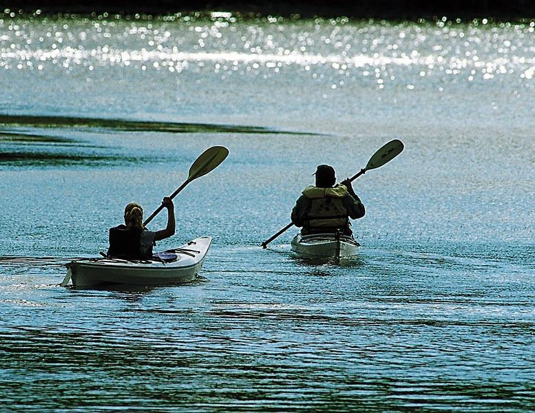 Kayaking, Namakhanta Lake, Maine