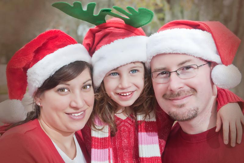 Christy, Charlotte & Sam - Christmas 2012