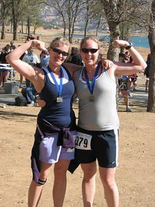 Libby & Susie mini-tri champs!