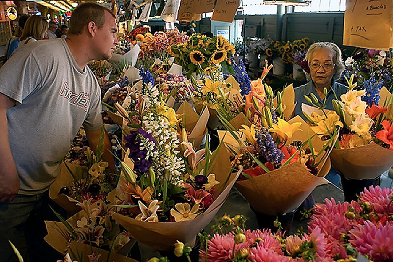 Flower Stall, Pike Street Market, Seattle, Washington