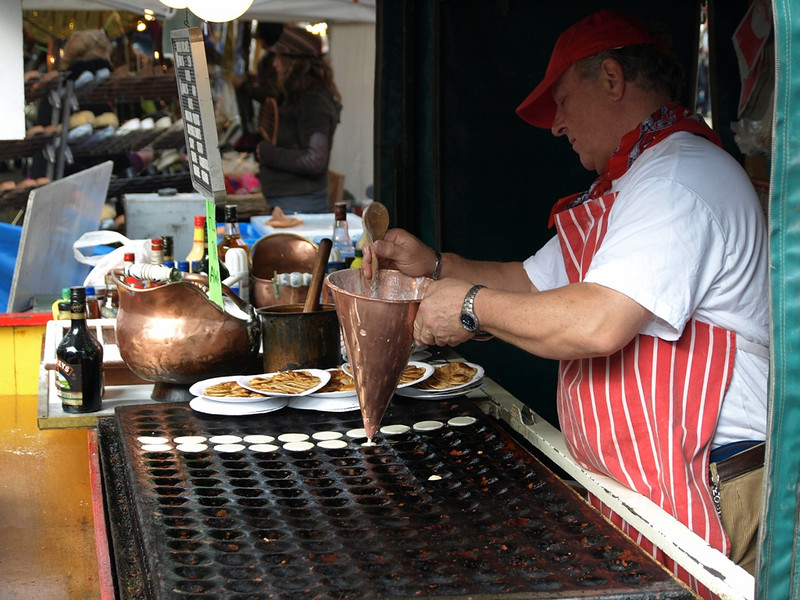 York Food Festival A French Crepe Maker In Action