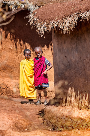 Two Young Boys in Kenyan Village Copyright 2021 Steve Leimberg UnSeenImages Com _DSC2753