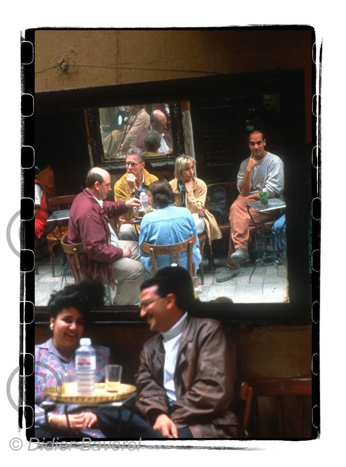 Jean Marc Barr au Fishawi Café, Le Caire 1996.