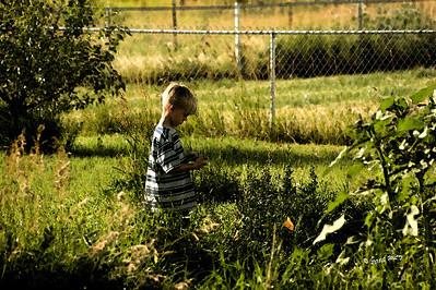 Boy in Garden