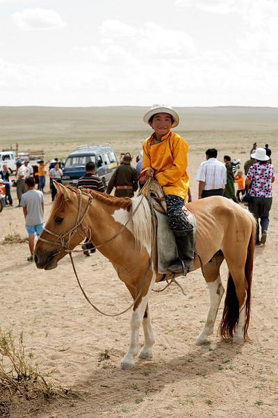 Young Mongolian horse man.