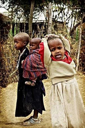 Masai kids in Tanzania.
