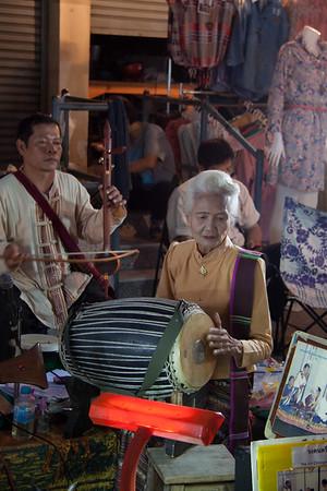 Musician, Street Market, Chiang Mai, Thailand, 2012
