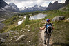 Hiking the Opabin Plateau, at Lake O'hara region