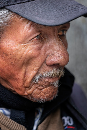 Man at Political Rally in Quito Copyright 2020 Steve Leimberg UnSeenImages Com _DSC5296