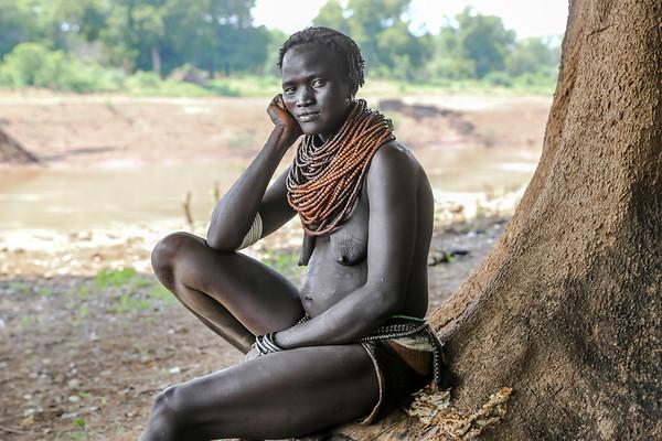 Nyangatom Woman - Omo Valley, Ethiopia