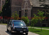 The Presidential Limousine arriving at Colorado College with President Obama.