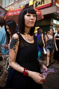 Funky Tattoo Girl  Sai Yeung Cho Street, Mongkok