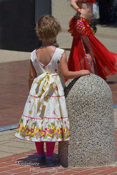 Watching Belly Dancer, Turkish Festival Monterey Ca.