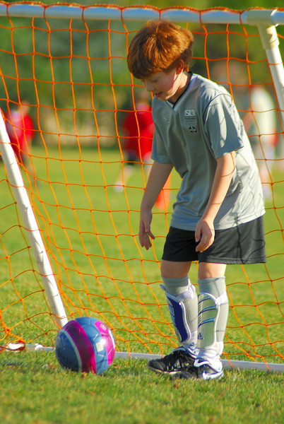 My 8 year old son Luke at Soccer
