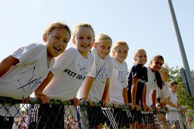 Aug 15, 2008. Soccer for Hope camp kids watch Chivas team practice.