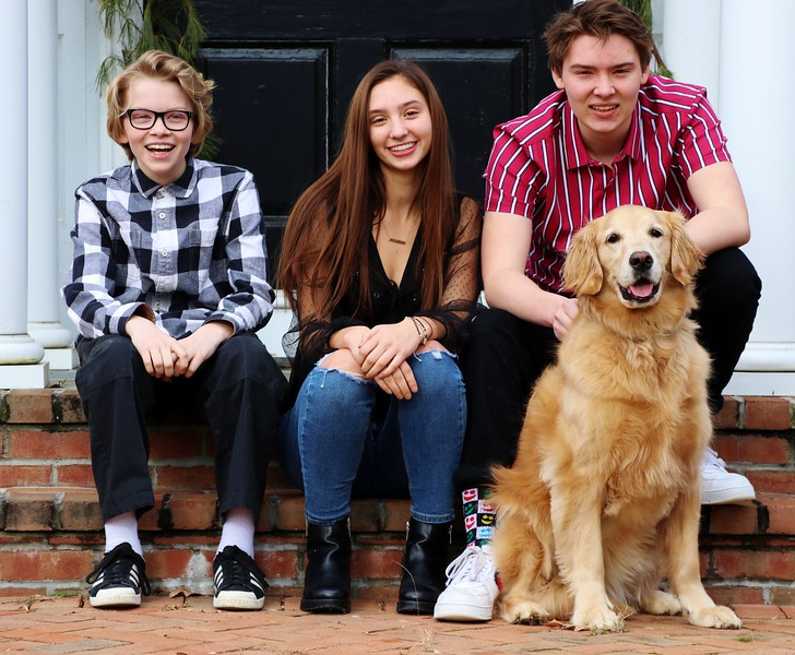Very talented and gorgeous kids and one cute dog!