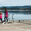 children on Ohiwa wharf.<br /> Model Release; no