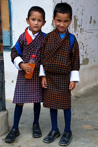 On the way to school. Paro, Bhutan.