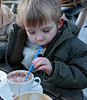 Mark blowing hot chocolate bubbles<br /> Cafe at St Ives nr Bingley<br /> f/5.6, 1/125, ISO800, RAW, Sigma 17-70