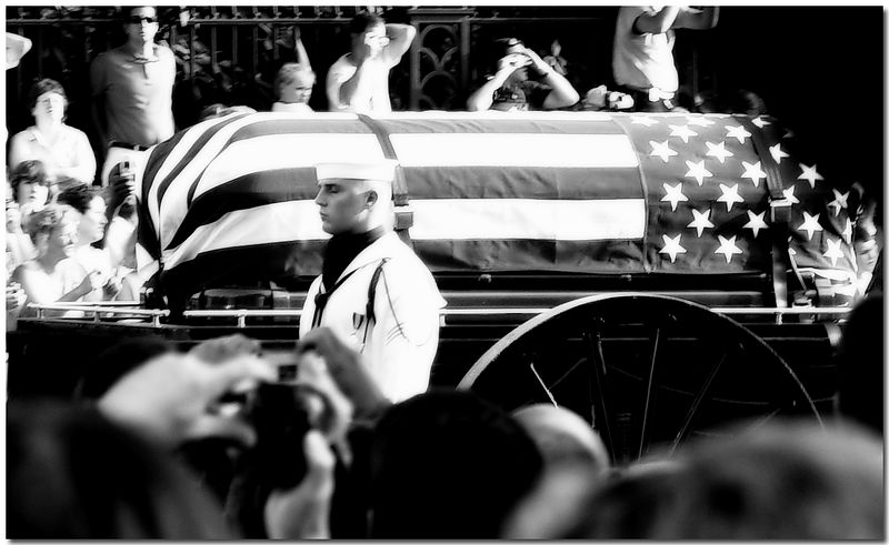Death of a President--Ronald Reagan's funeral procession, Washington, DC