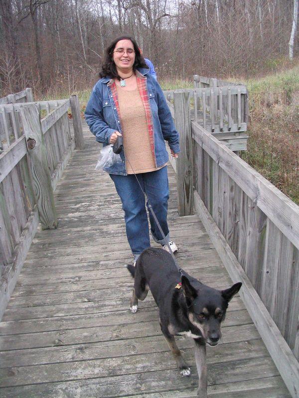 Miranda and her dog Prize