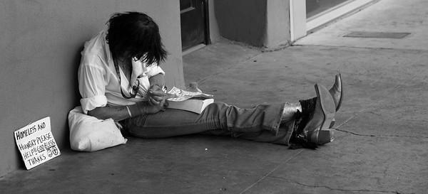 'Rockstar'- an optimistic homeless man