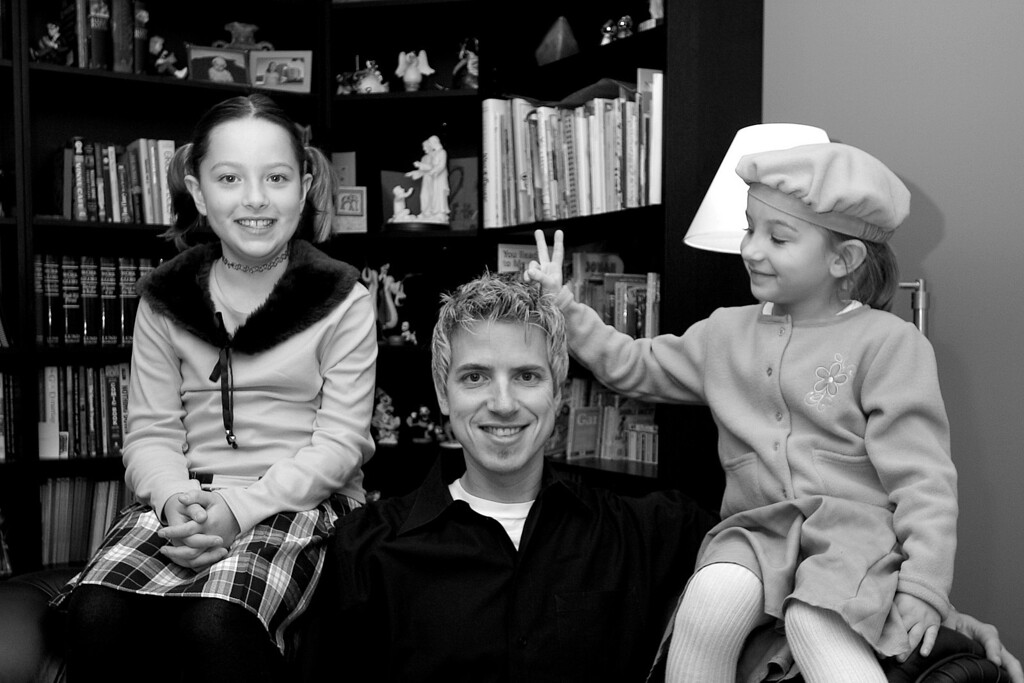 Trevor and his 2 daughters