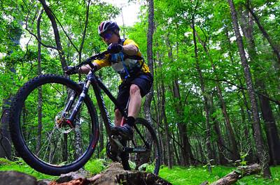 Pa biking in Hartwood Acres.