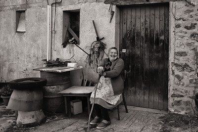 Farm Lady.  Alsace, France