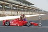 Dario Franchitti kissing his wife Ashley Judd after winning the Indianapolis 500...