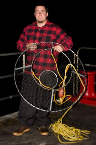 Fisherman on first night of open lobster season.