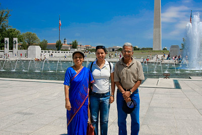 International visitors to the WWII memorial.