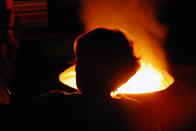 Around the campfire (Covert, MI).