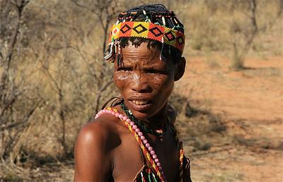 Bosjesvrouw, Namibië.