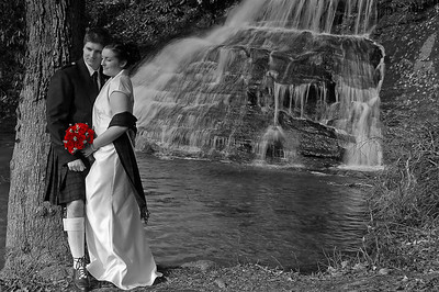My son Ian and his bride Sherri on their wedding day. Taken in South Carolina at Wildcat Falls.