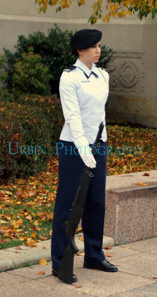 An Air Force Cadet at the 2008 Boston University ROTC Veterans Vigil
