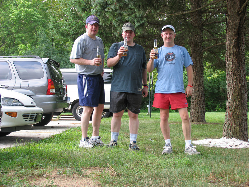 Celebrating the finish - Fairmont Park in Chestnut Hill - July 2005