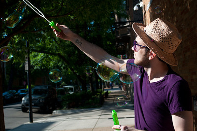 David with his amazing bubble wand!