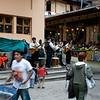 Aguas Calientes, Peru town square